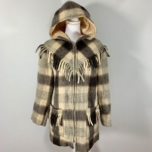 Vtg 70s Wool Fringe Tassel Jacket Southwestern